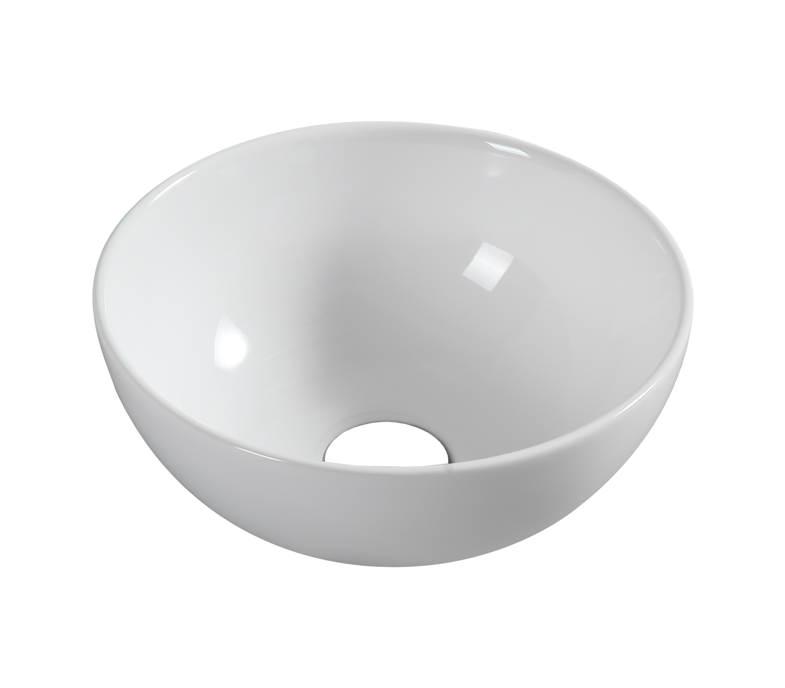 hidden-320mm Ceramic Round Basin [Colour: White]