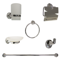 6-Piece Bathroom Accessory Kit